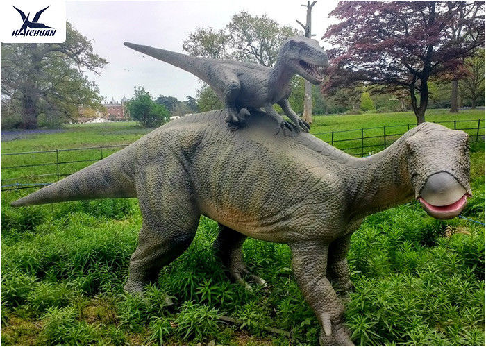 Dinosaur Replicas Life Size , Dinosaur Garden Sculpture For Forest Playground Decoration